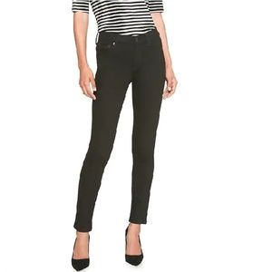 NWT BananaF Mid Rise Skinny Jeans 25P Black c104